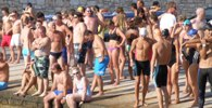 Antiparos Cross Channel Swim start