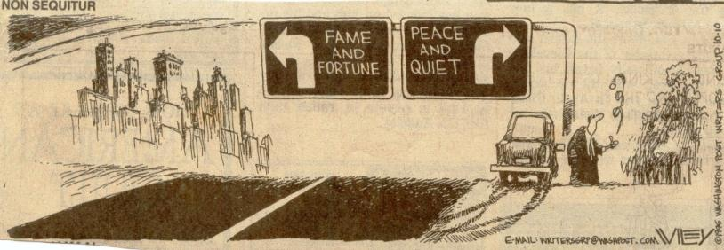 Fame and fortune or peace and quiet